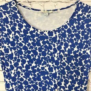 Boden Blue Floral Summer Jersey Knit Dress Sz 8